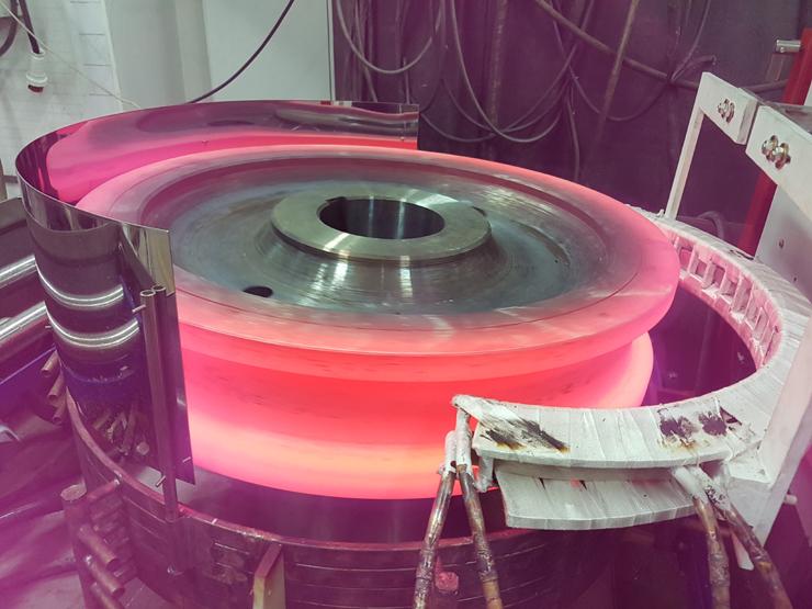 индукционная закалка крановых колес
