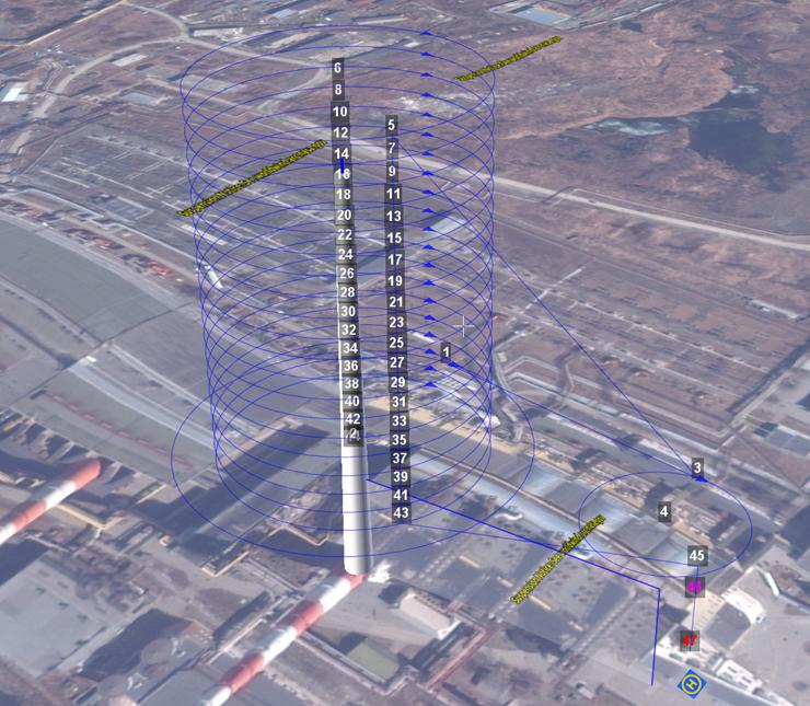 Экран наземной станции управления Geoscan Planner 2.0